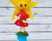 Anthropomorphic Sun Felt Art Doll