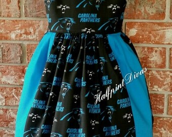 Panthers  Girls boutique football dress  SIZE 3T SALE