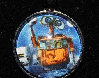 Walle Wall-e Pendant Necklace Classic Upcycled Book Disney Robot Pixar