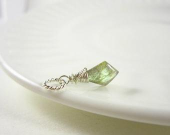 S- Natural Labradorite Pendant - Labradorite Stone Jewelry - Labradorite Jewelry - Polished Stone Necklace Pendant - Sterling Silver Charms