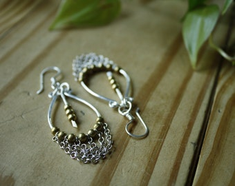 Silver and Bronze Earrings—Ready-to-Ship