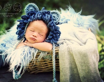 Newborn Baby Boy Photo Prop Lion Hat