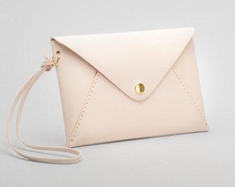 Leather Envelop Personalized Clutch Bridesmaid Gifts, Leather Monogram Clutch, Envelope Clutch, Leather Envelope Passport Wallet Woman