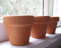 Miniature Terracotta Pots, Planters, Seedlings, Flower Pots, Vessels, Supplies, Decor