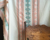 vintage southwestern long geometric tablecloth pink tablecloth / wall hanging
