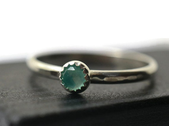 4mm blue opal ring peruvian opal simple engagement by