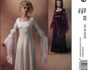 McCall's M4889 Sewing Pattern for Misses' Renaissance Costumes - Uncut - Size 14, 16, 18, 20