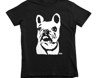 French Bulldog Kids Tshirt, French Bulldog Clothing, Frenchie Shirt, Unique Boy Clothes, Cute Girl Clothes, Unisex Kids Clothing, 2 - 12