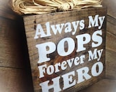 Pops Gift, Pops Sign ,Wood Block , Plaque ,Father's Day Gift ,Pop Papaw Grampa Papa Poppa from Peace 2 U Designs By Syds