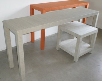 grasscloth covered table custom built design your own