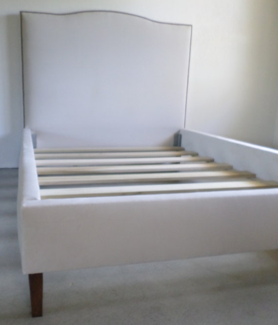 Custom Bed - Twin Size- COM - W/Nailhead Trim