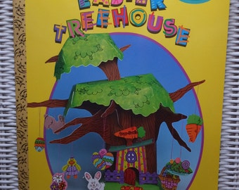 Vintage Golden Books Press-Out & Stickers Easter Treehouse Book