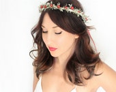 SALE Holiday Headband, flower Crown, Christmas, Winter Headpiece, Holiday accessory, holiday floral crown, christmas Wedding,