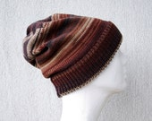 Knit Hat Slouchy beanie Knitted hat Wool hat Mens hat Winter hat Striped hat Knit beanie Knit hats Mens beanie Slouchy hat Striped beanie
