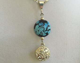 Silver and Ceramic Necklace