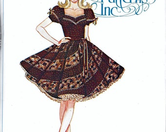 Authentic Patterns 320 Ladies Square Dance Dress Bust 34, 36, 38 Sewing Pattern