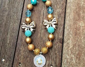 Shopkins Necklace Shopkins Roxy Ring Necklace Shopkins Chunky necklace Roxy Ring bubblegum necklace.