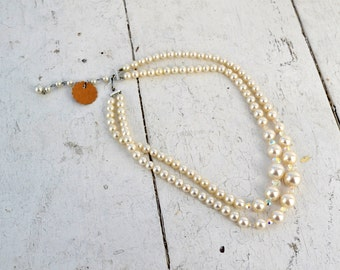 1950s Pearl and Crystal Necklace