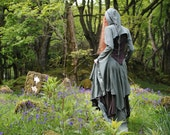 Selkie Skirt ~ Long Triple Layer Skirt ~ Made to Measure ~ Cotton Jersey ~ Faerie Waer ~ Goddess ~ Quintessential Forest Camouflage