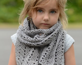 CROCHET PATTERN-The Crestlyn Wrap (Small, Medium, Large scarf or Small, Medium, Large wrap sizes)