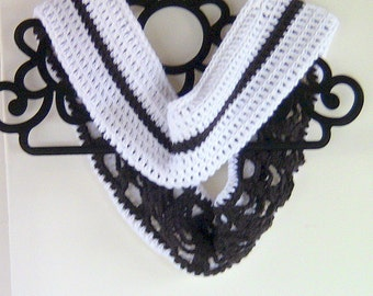 Clearance - Cowl, Reversible Cowl, Crocheted Reversible Cowl, 2 Cowls in 1