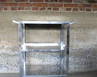 Happy Hour.... Vintage Chrome Bar Cart, Bar Tray, Serving, Home Entertainment