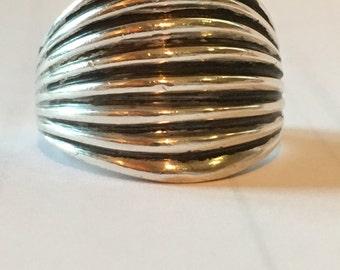 MODERNIST STERLING SILVER  Denmark 7.6 grams Ring Size 7.5 Large Solid