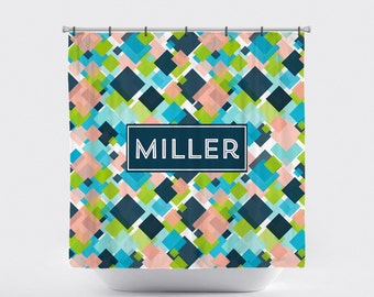 Shower Curtain Personalized Monogrammed Pick Your Colors: Boxee
