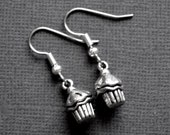 Silver Cupcakes . Earrings