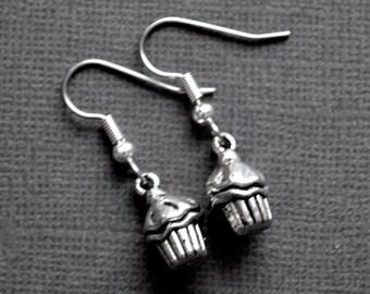 Silver Cupcakes . Earrings