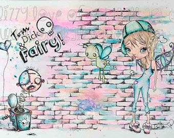 Original Watercolor Fine Art Reproduction Giclee Print - Fairy Tales by Lizzy Love [IMG#179]