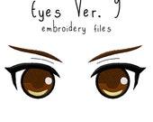 Anime plushie eyes EMBROIDERY MACHINE FILES Instant Download five sizes plush design pattern digital ufo catcher nenderoid