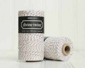 1 Spool (240 yds) of Brown Sugar Baker's Twine - 4-ply, 100% Cotton, Gift Wrap, Packaging, Scrapbooking, etc.