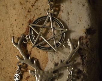 Cernunnos Horned God Pentacle Amulet (Cernunnos, Celtic, Pagan, Barbarian,Heathen)