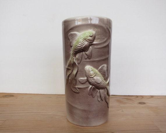 Royal copley koi fish vase vintage 1950s ceramic vase for Koi fish vase