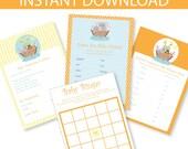 Noah's Ark Baby Shower Games Printable Kit - INSTANT DOWNLOAD -
