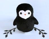 Penguin Plushie. Stuffed Penguin, Minky Plush, Small Animal Doll, Penguin Softie, Winter Bird Plush, Gift for Animal Lovers, Designer Toy