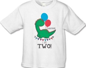 Dinosaur Birthday Shirt - 2ND Birthday T-Shirt (use your child's age or any number) - Dinosaur Birthday Party - Personalized Dinosaur Shirts
