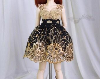 Gold beige & black dress for MSD