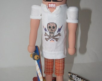 Click here to customize a Skateboarder Nutcracker