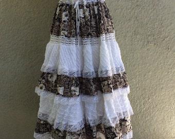 Gauze Dress - Pintuck Dress - Lace Tiered Dress - Mexican Dress - Gorgeous