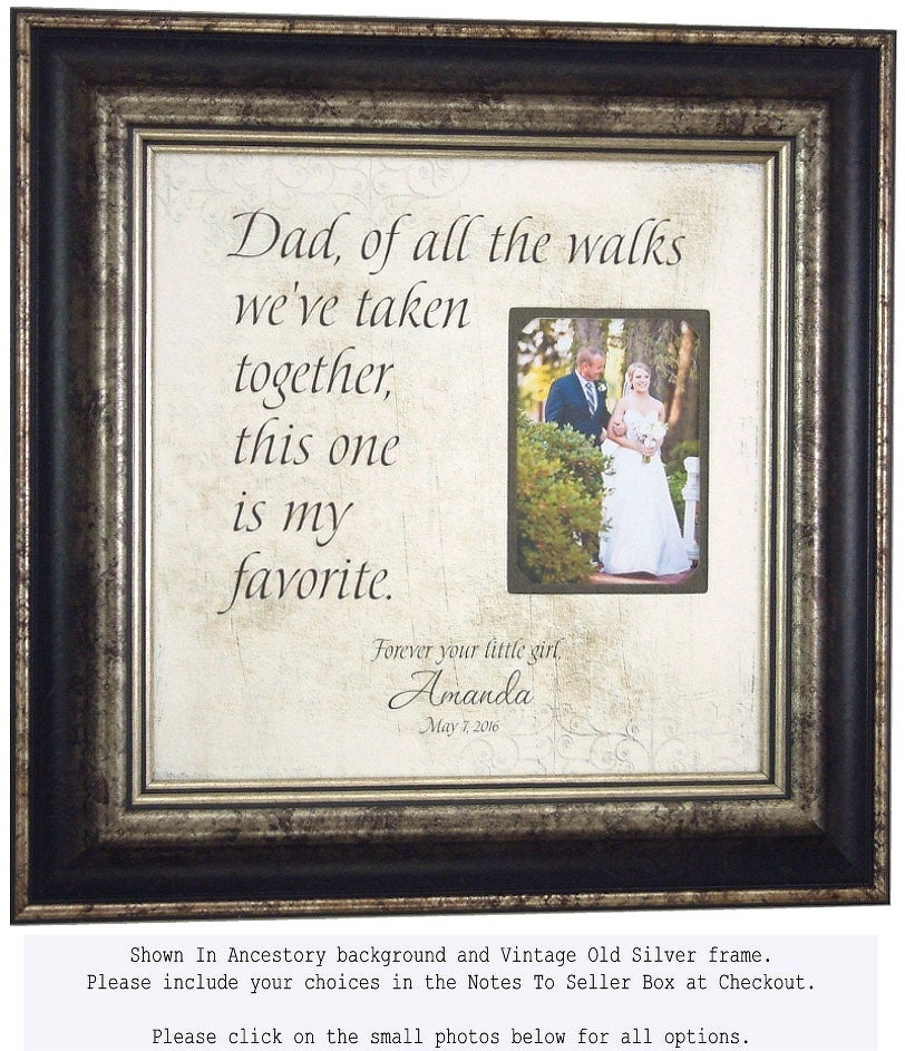 Father Of The Bride GiftWedding Frame For Dad 16x16