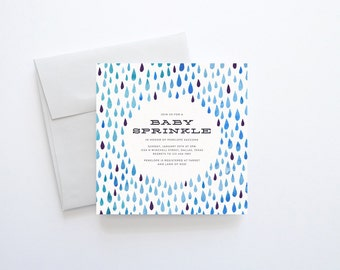 Baby Sprinkle Invitation, Baby Sprinkle Invitation Boy, Blue Baby Sprinkle, Baby Sprinkle Invitation Boy, Boy Baby Sprinkle, Watercolor Baby