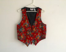1980s ugly christmas vest / sweater party / jingle bells / holly / drums / photo prop / tacky