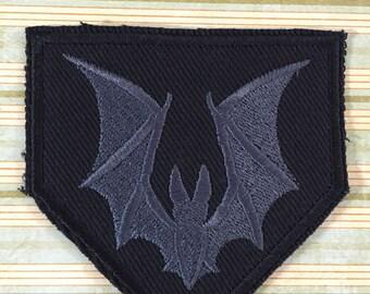 Charcoal Bat Patch - Pentagon shape