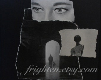 One of a Kind Black and White Unusual Wall Art Surreal Paper Collage