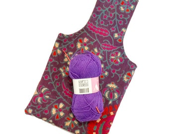 Small Indian Mandala Tapestry Yarn Bag Project Tote S82