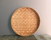 Vintage Woven Winnowing Basket / Woven Geometric Basket / Wall Hanging