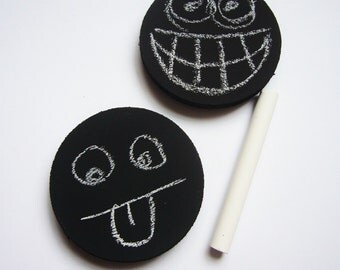 Blank Chalkboard Magnet - Chalkboard Magnet - Fridge Magnet - Refrigerator Magnet - Fun Emoji Magnets - Blank Magnet - Fridge Blackboard
