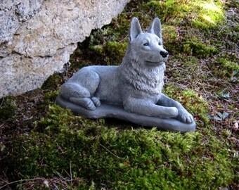 German Shepherd Statue, Concrete Dog Statues, Cement Statue, Police Dogs, Shepherd Statue, Pet Memorial, Garden Statue, Memorial For Dog